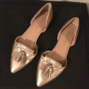 Gold Flats / Loafers